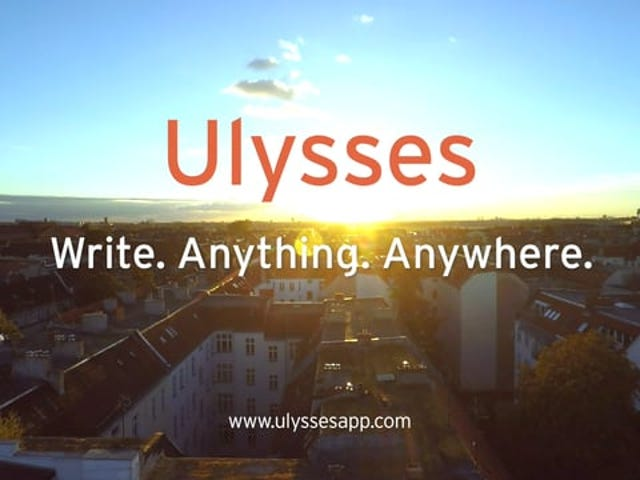 Ulysses, the Powerful Text Editor for iPad and Mac, Is Now on iPhone
