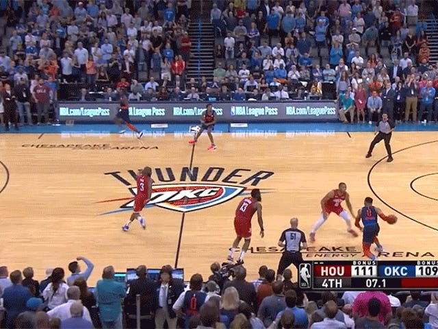 Paul George Ended A Crazy Game On A Crazy Bucket