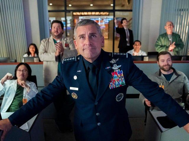 Steve Carell memerintahkan Angkatan Angkasa dalam pandangan pertama dalam komedi Netflix baru Greg Daniels