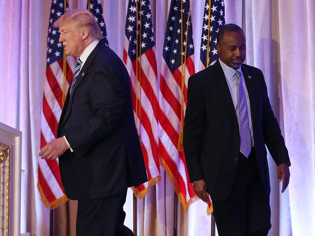 Ben Carson Knew When to End the Charade; Too Bad Tangerine Mussolini Didn't