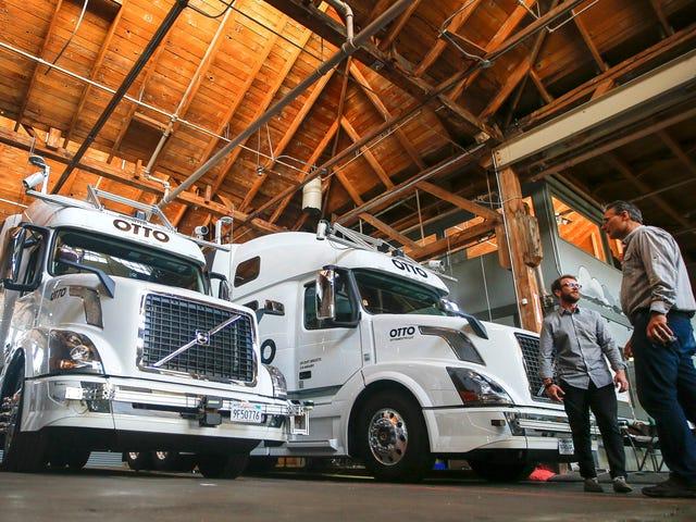 The Texting Bromance Behind Travis Kalanick's Self-Driving Truck Joyride