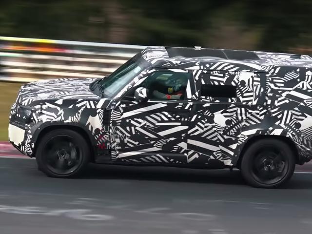 Den Nye Land Rover Defender bliver sporet testet på Nürburgring?