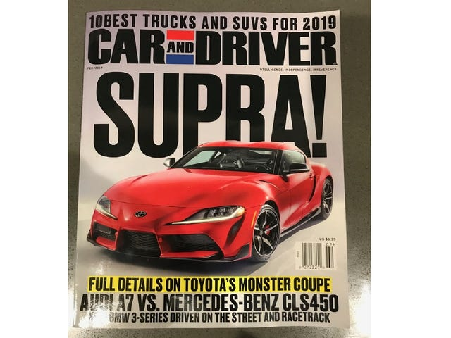 If You Needed Any More Confirmation, Here's the New Toyota Supra on the Cover of Car and Driver