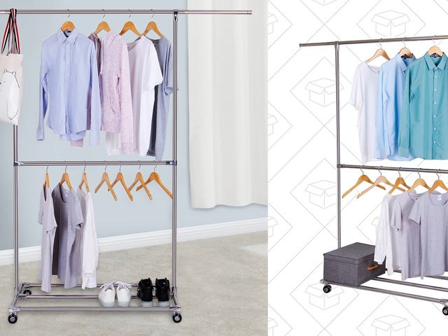 Expand Your Closet Space With This $34 Garment Rack