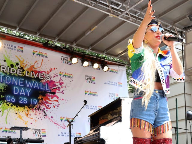 Lady Gaga Says She Would 'Take a Bullet' for the LGBTQ+ Community at Stonewall Rally