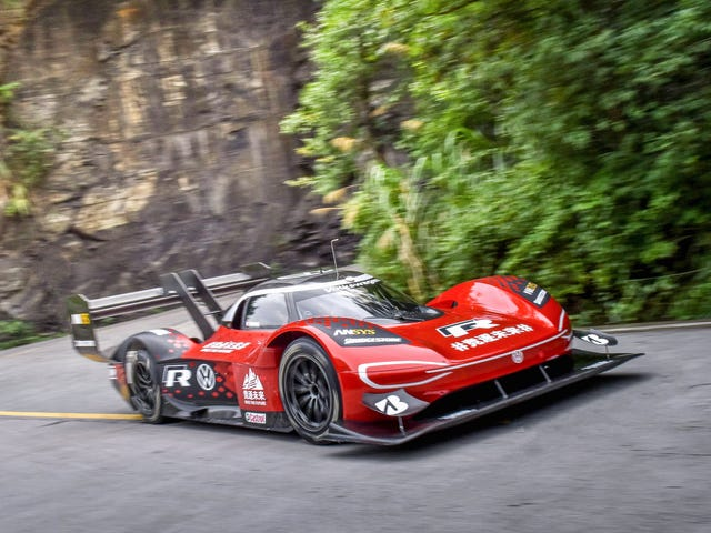 Volkswagen Shipped Its ID.R Electric Race Car To A Chinese Mountain By Train And Climbed It As Fast As It Could