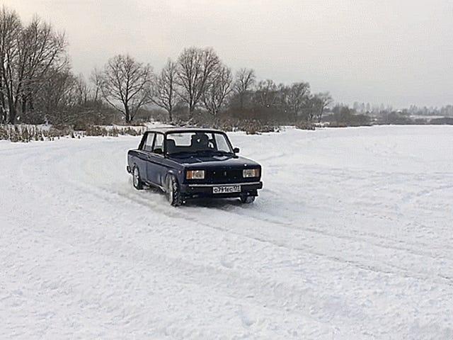 Thrash Snow Like Mighty Bear With Glorious Soviet Lada 2105