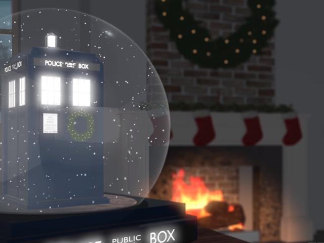 O Doctor Who Yule Log Video tem algumas sugestões para o especial de Natal, se você ficar bastante tempo o suficiente