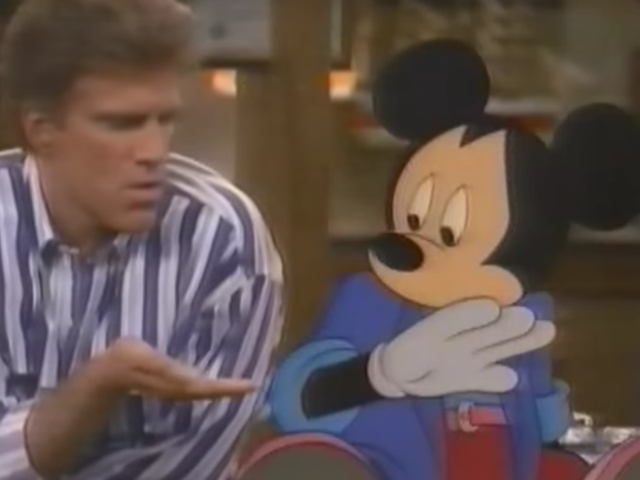 Revisit a simpler time when Mickey Mouse visited the cast of Cheers
