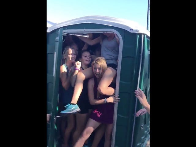 """The New Thing Teens Are Doing Is Called The """"Port-A-Potty Challenge"""""""