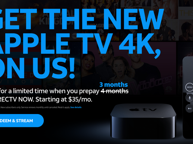 This DIRECTV Now Promotion Is Basically a Massive 4K Apple TV Discount