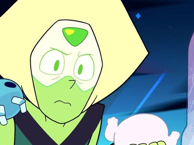 Steven Universe erkundet mit Peridot ein Gebiet, in dem aus Bösewicht Gutes wird