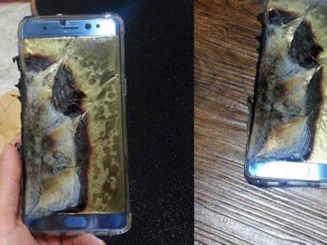 Problemas para Samsung: suspender las ventas de la Nota 7 por riesgo de incendio en la batería