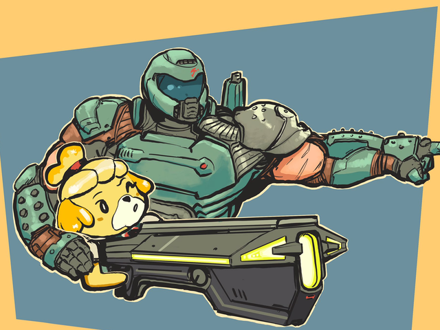 Doomguy e Isabelle son mejores amigas