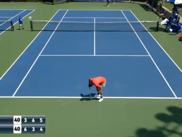 Tennis Player Cramps, Pukes, Perseveres, Cramps Again, Withdraws Due To All Of The Above