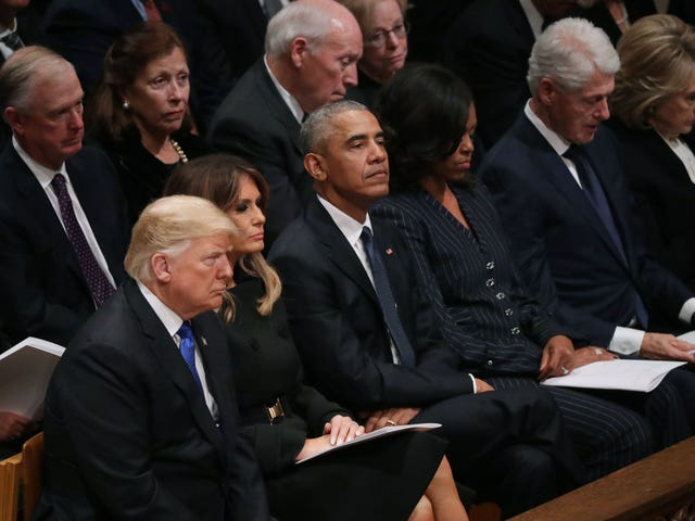 Y'all's Triflin'-Ass President Can't Even Sit Up Straight During a Funeral