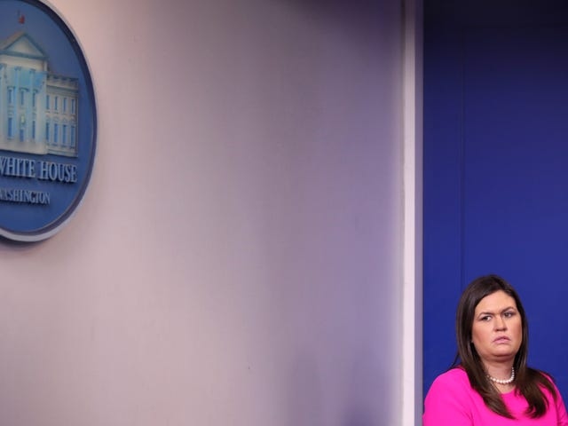 Trump Told Sarah 'Suckabee' Sanders to Stop Holding Briefings Because the Press Pushes Back on Her Lies