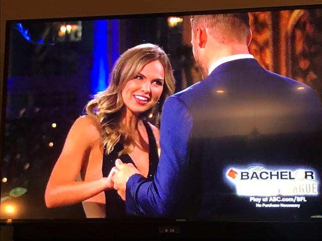 Yes, I'm watching the bachelor.