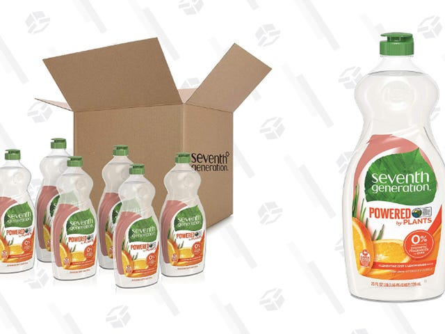 Stock Up On Dish Soap With 25% Off a 6-Pack of Seventh Generation