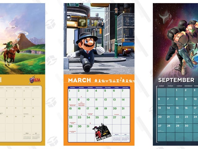 Preorder and Save $5 On Nintendo's 2020 Wall Calendars