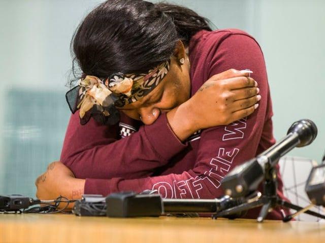 Afgifter faldt imod sort kvinde, der blev opkrævet med kriminel mishandling efter at være blevet brutalt overfaldet