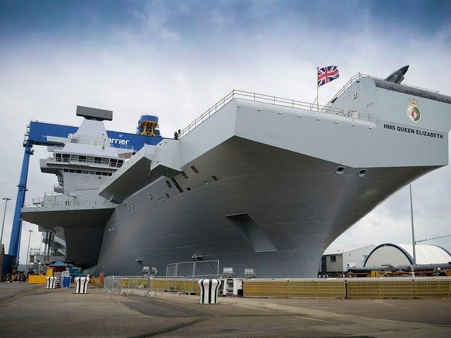 El portaaviones británico más potente de la historia tiene un problema de seguridad: lleva Windows XP del 2001