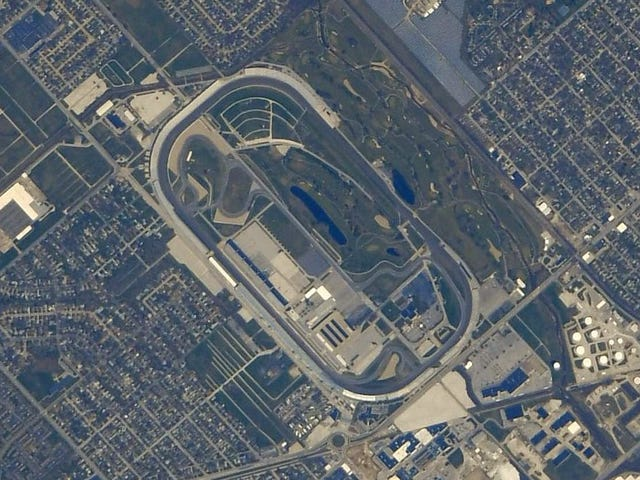 This Is What The Indianapolis Motor Speedway Looks Like From Space