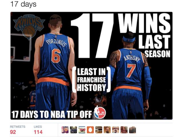 Knicks에 관하여이 무례한 짹 짹짹은 실제로 틀린 그러나 영적으로 정확하다