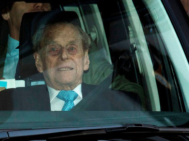 Prince Philip Looks Like 98-Year-Old Man He Is as He Leaves Hospital for Christmas With Queen Elizabeth II