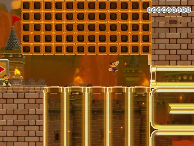 Être capable de jouer à Mario Maker en ligne avec des amis, c'est encore mieux
