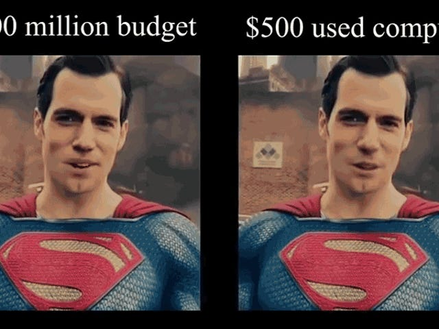 Una PC de $ 500 y una IA hicieron un trabajo mucho mejor borrando el bigote de la Liga de la Justicia de Henry Cavill que el caro VFX
