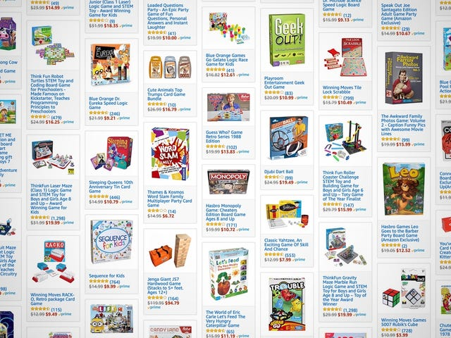 Amazon's Enormous Family Board Game Sale Plays All the Hits