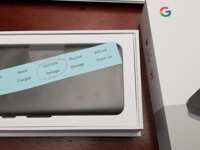 Google envió un Pixel 2 que no habia pasado las pruebas de control de calidad a uno de sus compradores