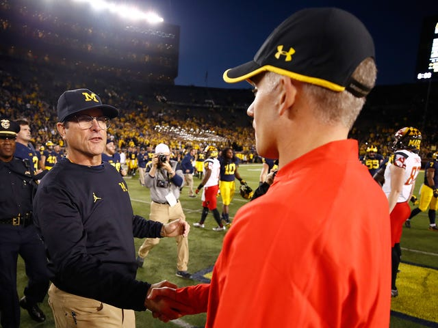 "Jim Harbaugh Won't Talk About D.J. Durkin's ""Bully Coaching"" While At Michigan"