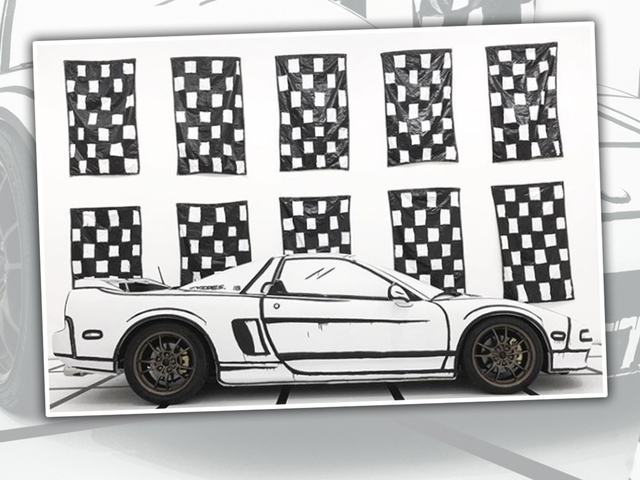 Questo meraviglioso involucro rende un aspetto di Acura NSX come un disegno di se stesso
