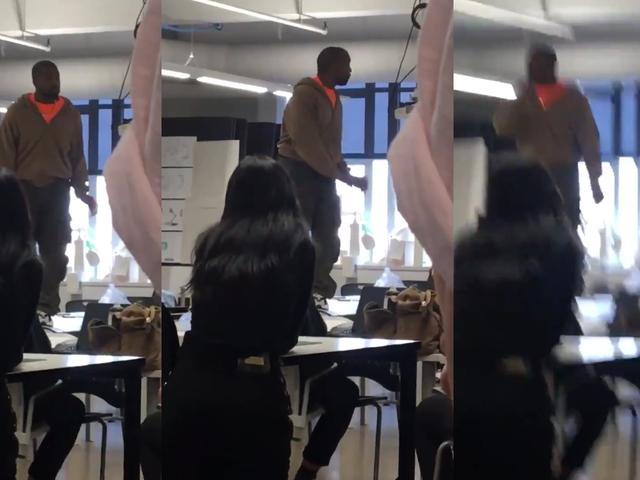 Kanye West salta a la mesa en el Detroit College para despotricar por haber dejado solo a Elon Musk