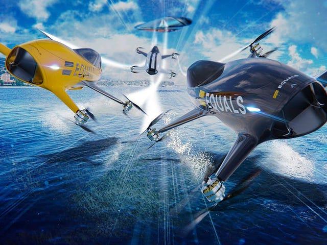 Come la F1, ma con macchine volanti: saranno le gare di droni della serie Airspeed