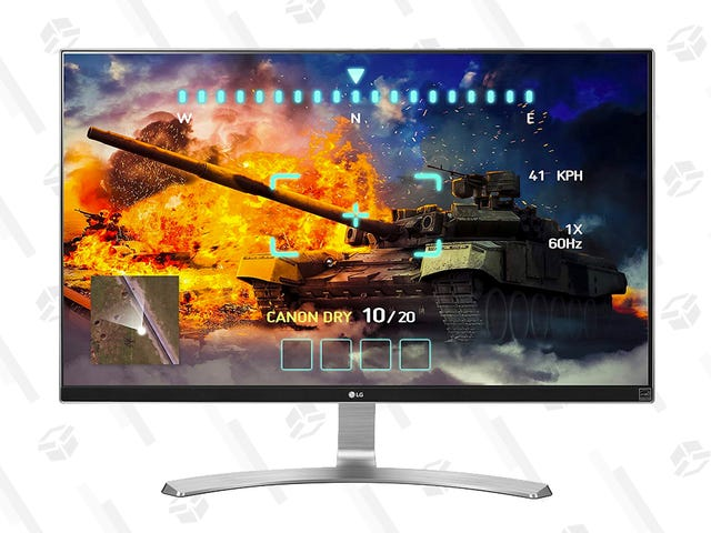 """Get Lost In This 27"""" 4K LG Monitor, Now Just $300"""