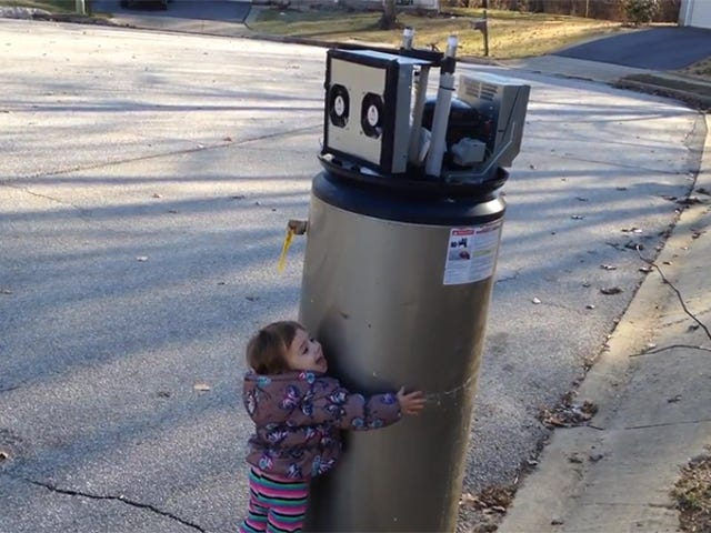No One Tell This Adorable Little Girl the Truth About Her New Robot Friend