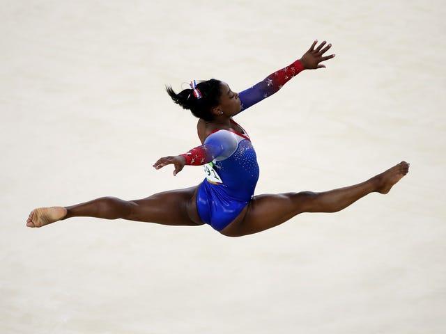 Practice Footage Shows That Taking A Year Off From Training Doesn't Matter When You're Simone Biles