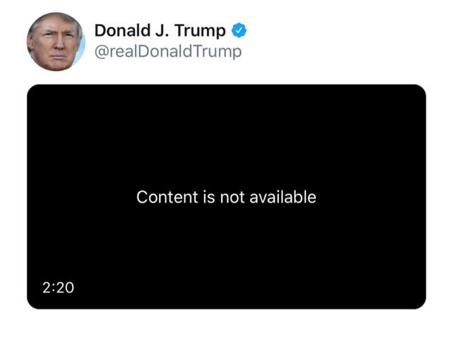 REM Copyright Complaint Gets Trump Tweet Axed af Twitter