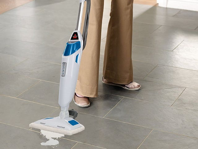 Steam Clean Your Hardwood and Tile Floors With This Bissell PowerFresh Mop
