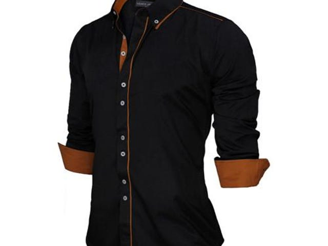 SLIM FIT MALE SHIRT SOLID LONG SLEEVE BRITISH STYLE
