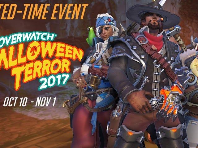 """Boo!  Det er en anden Overwatch Halloween event!  Hvad er det?  Du blev ikke overrasket?  Du har sparet dine kreditter i flere måneder, så du kunne nab en ny Zenyatta hud?  Nå .... Overwatch annoncerede bare """"Halloween Terror"""", som er levende nu med et par nye skind og to PvE brawls."""