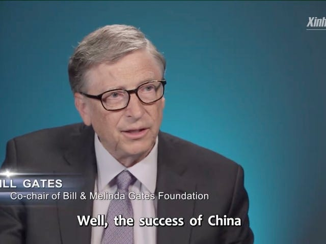 I media statali cinesi pubblicano la pubblicità di Facebook con Bill Gates che parla della grande Cina