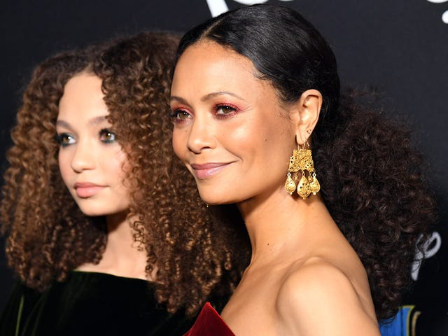 She Get It from Her Mama: Thandie Newton Twins with Daughter Nico Parker at the Dumbo Premiere