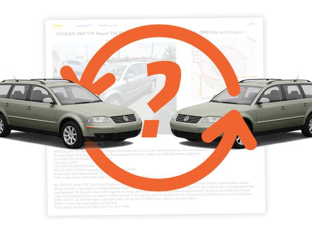 Who's Behind This Bizarre Chain Of Craigslist Volkswagen Passat TDI Wagon Thefts?