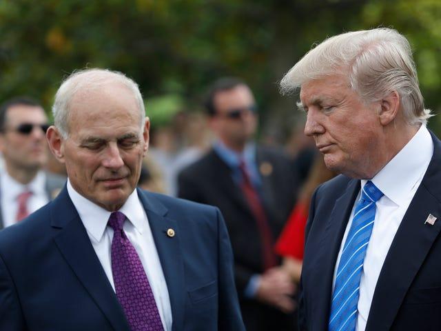 Trump's Big Mad After Chief of Staff in tegenspraak met zijn houding tegen de grensmuur en noemt hem 'niet geïnformeerd': rapport