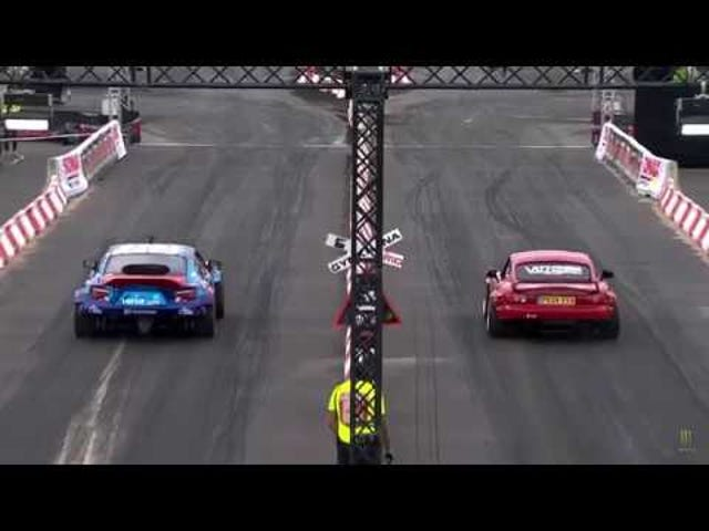 200hp supercharged Miata wipes the floor with everyone who challenges