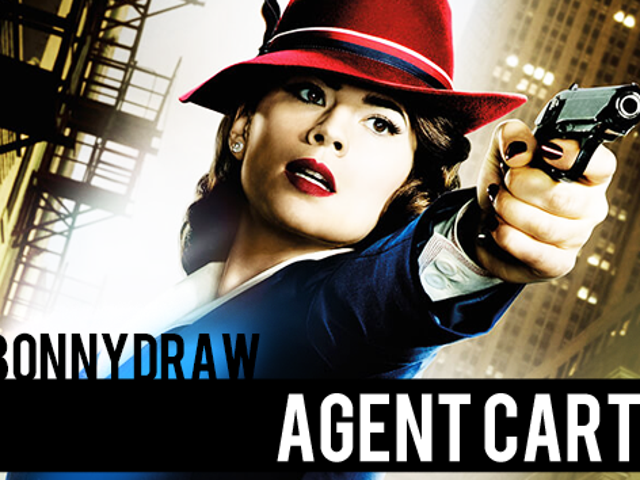 SeeBonnyDraw:  Agent Peggy Carter, in Speed Painting Form!